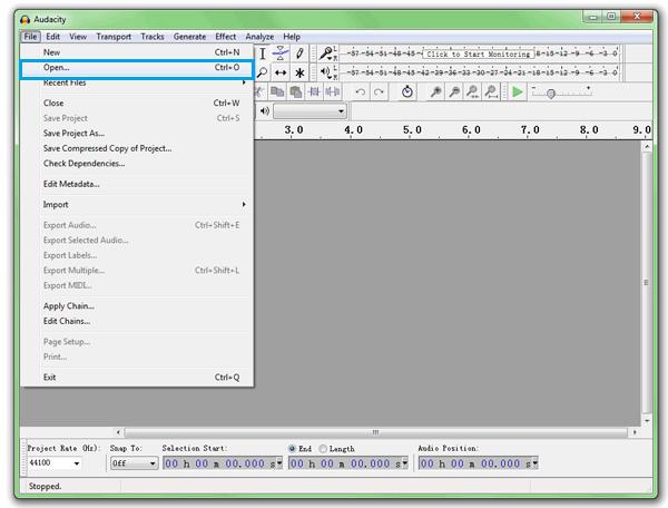 Конвертируйте MP3 в MIDI с Audacity