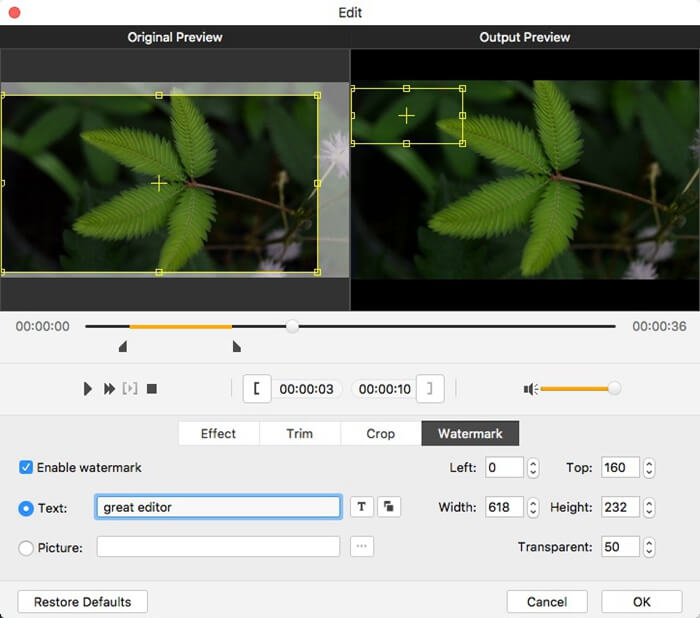 Personalize the Videos