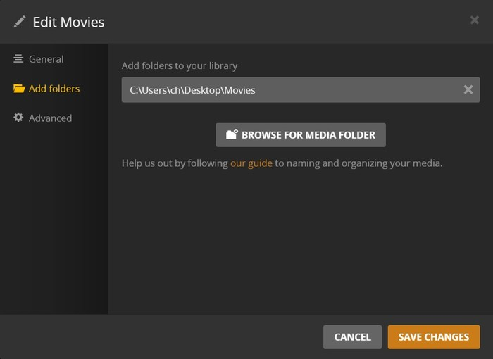 Add DVD Movie Folder to Plex