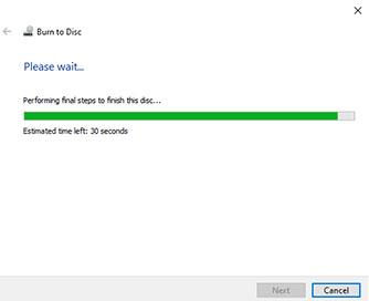 Burn DVD on Windows