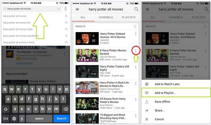 Create Playlist on Mobile