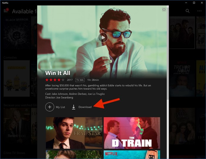 Netflix-Download-Schaltfläche