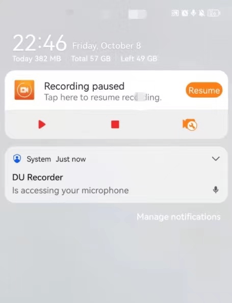 Control Center with DU Recorder