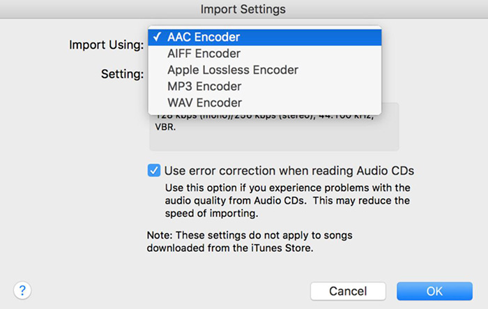 iTunes Supported Audio