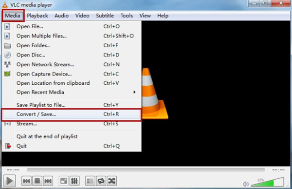 Click the Convert Button in VLC