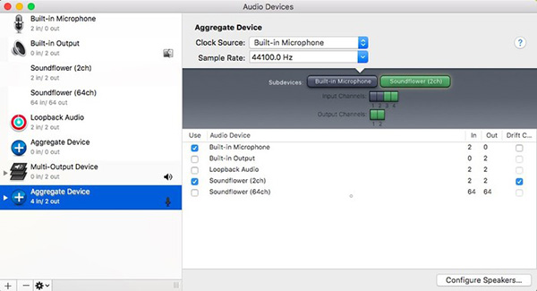 Create Aggregate Device