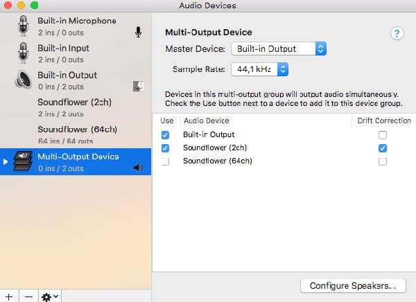 Create Multi Output Device