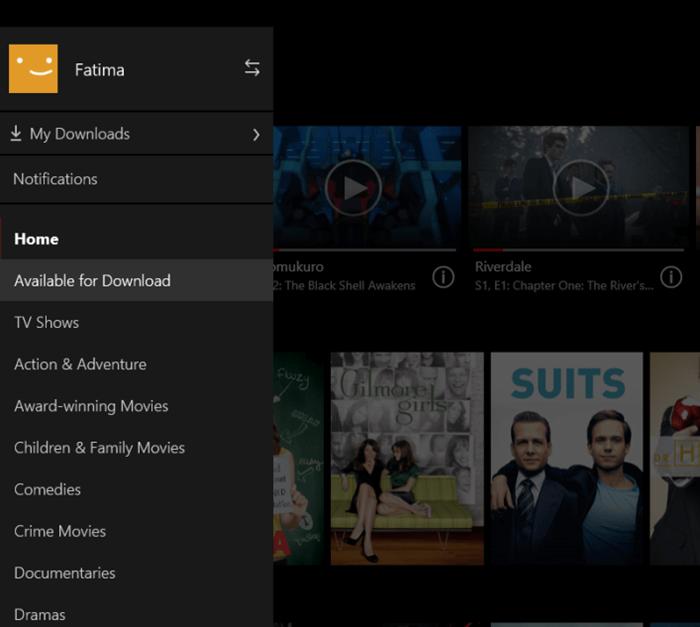 Netflix zum Herunterladen verfügbar