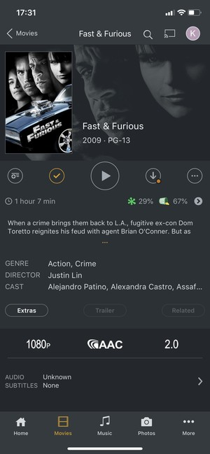 iPhone Play DVD on Plex