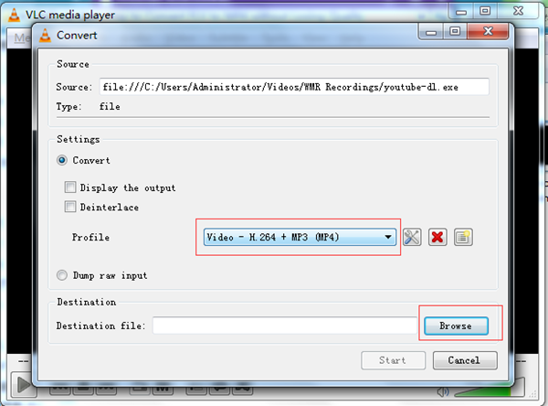 Set Output Profile and Folder