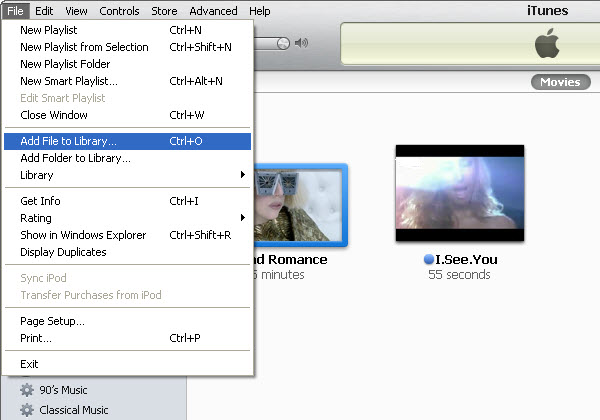 Sync File to iPod