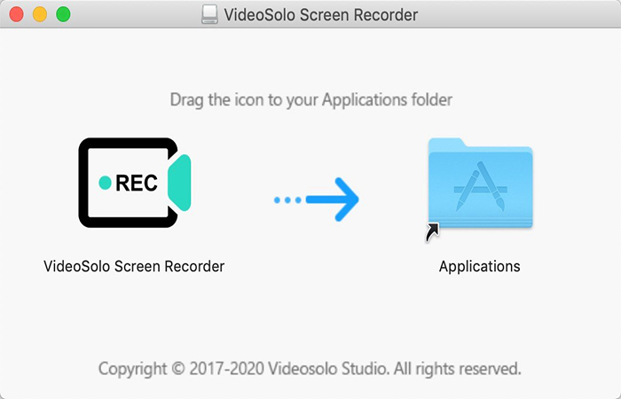 Install Window of Mac