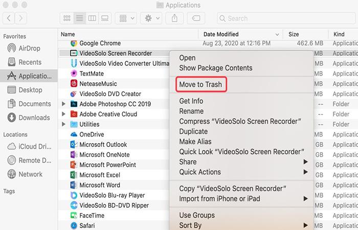 Uninstall VideoSolo Screen Recorder from Mac