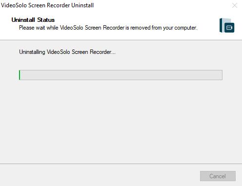 Uninstalling VideoSolo Screen Recorder